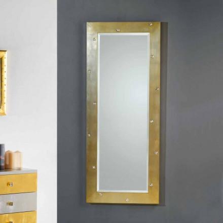 Zrcadlová stěna / podlaha moderní design s krystaly Swarovski