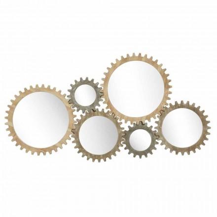 Moderní designové nástěnné zrcadlo s Iron Gear - Regiano