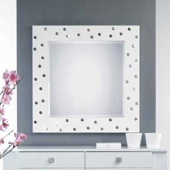 bílá zeď zrcadlo s dekorací v krystaly Swarovski Tiffany