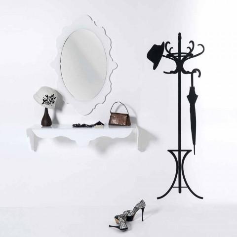 bílá zeď zrcadlo designu Joy rám zdobí, made in Italy