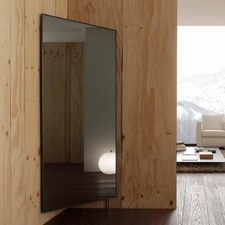 Nástěnné zrcadlo s otevíracími dveřmi a háčky na kabáty vyrobené v Itálii - Boro