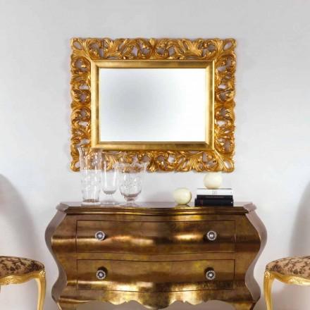 Zrcadlo designu zlatem cílové stěny Gudin, 108x87 cm