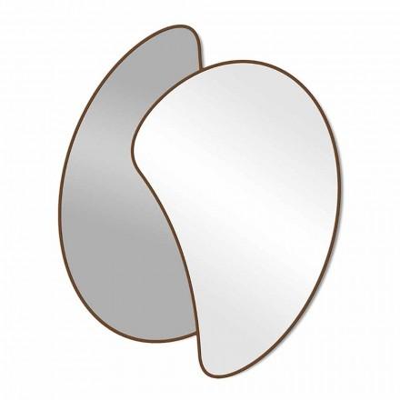 Velké designové nástěnné zrcadlo s moderním barevným rámem - Mantra