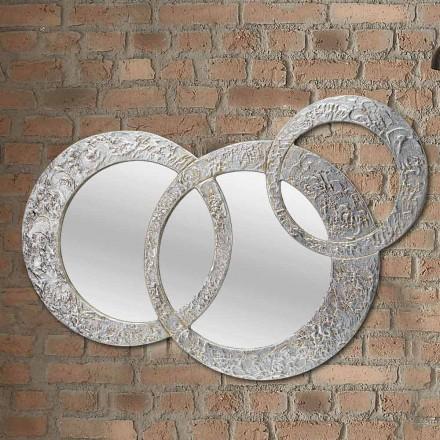 Design zrcadlo ze stříbrného listu vyrobené v Itálii Cortina