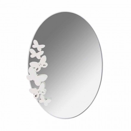 Moderní design oválné železné nástěnné zrcadlo vyrobené v Itálii - máslo