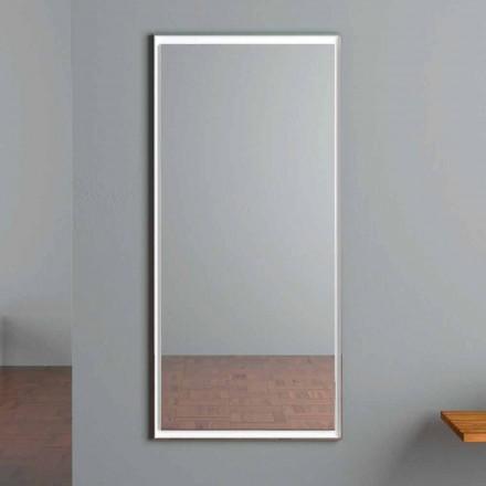 LED osvětlené nástěnné zrcadlo s dotykovým spínačem vyrobené v Itálii - Ammar