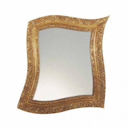 Barokní nástěnné zrcadlo ze železa a stříbra Vyrobeno v Itálii - Rudi