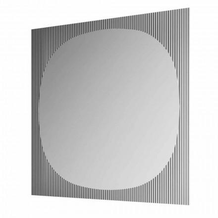 Moderní čtvercové nástěnné zrcadlo v kouřové barvě vyrobené v Itálii - Bandolero