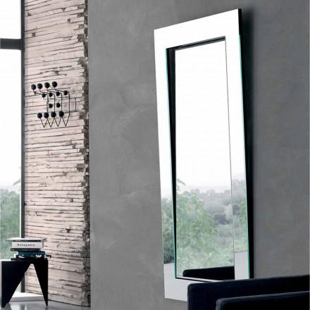 Obdélníkové nástěnné zrcadlo se šikmým rámem vyrobené v Itálii - Salamina