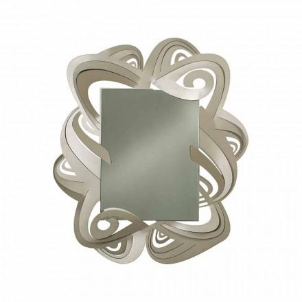 Moderní obdélníkové železné nástěnné zrcadlo vyrobené v Itálii - Penny