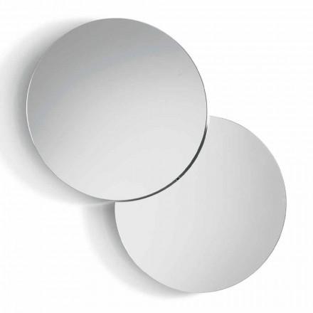 Kulaté nástěnné zrcadlo se satelitem, který otočí o 360 ° v Itálii - Shaki