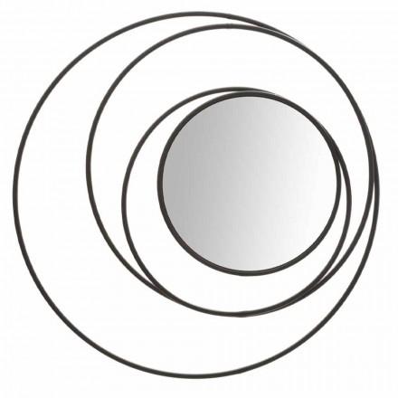 Kulaté nástěnné zrcadlo moderního designu v železo, Selda