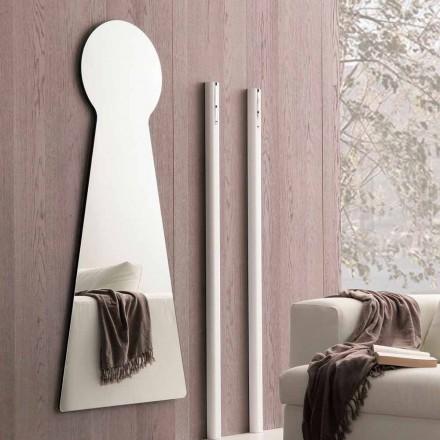 Tvarované nástěnné zrcadlo s melaminovým panelem vyrobené v Itálii - Bromo
