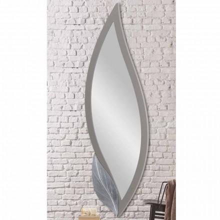 Nástěnné zrcadlo ve tvaru moderní holubice šedé lakované z Itálie Sagama