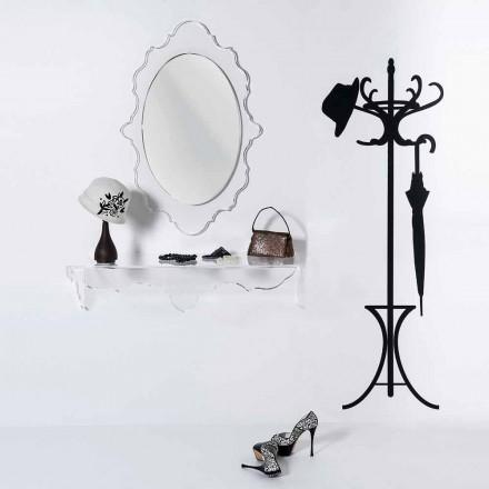 průhledná stěna se zrcadlem Joy design, vyrobeno v Itálii
