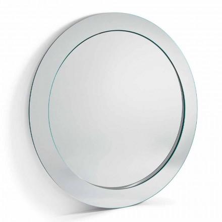 Moderní kulaté volně stojící zrcadlo se šikmým rámem vyrobené v Itálii - Salamina