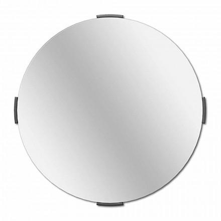 Moderní kulaté zrcadlové konzolové zrcadlo s rámečkem - Odesso