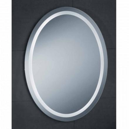 Zrcadlo moderní design s LED osvětlením vanou Čistá