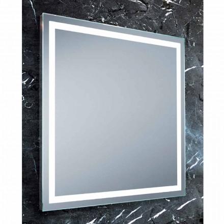Zrcadlo moderní design koupelny s LED osvětlením Paco