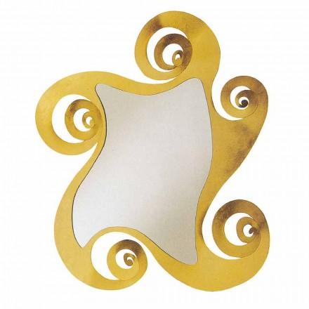 Moderní designové nástěnné zrcadlo s tvarem železa Vyrobeno v Itálii - Pacifiku