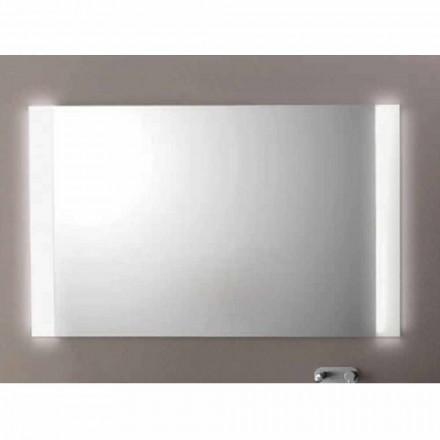 Moderní koupelna zrcadlo s LED světly, L1200xh.900 mm, Agata