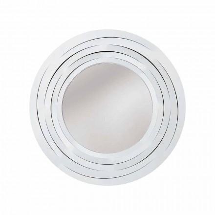 Moderní kruhové nástěnné zrcadlo v barevné železo vyrobené v Itálii - Oregano