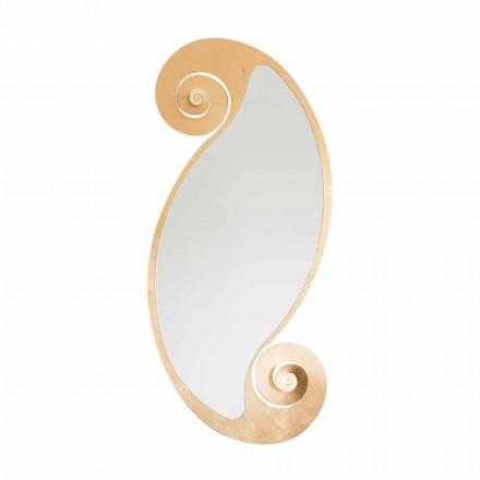 Oválné nástěnné zrcadlo moderního designu v železo Made in Italy - Pacific