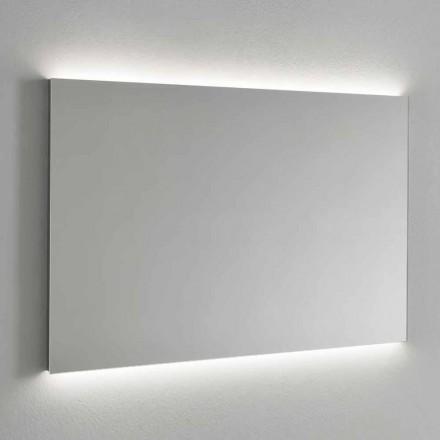 LED podsvícené nástěnné zrcadlo, ocelový rám vyrobený v Itálii - Tundra