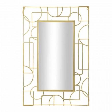 Obdélníkové železné nástěnné zrcadlo s moderním designem - Plinio