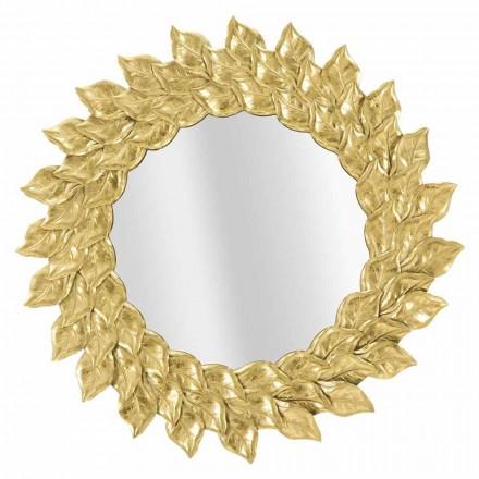 Kulaté nástěnné zrcadlo s železným rámem - Seneca