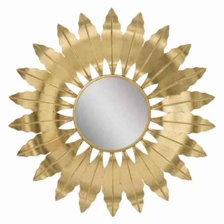 Kulaté moderní nástěnné zrcadlo se železným rámem - Galdi