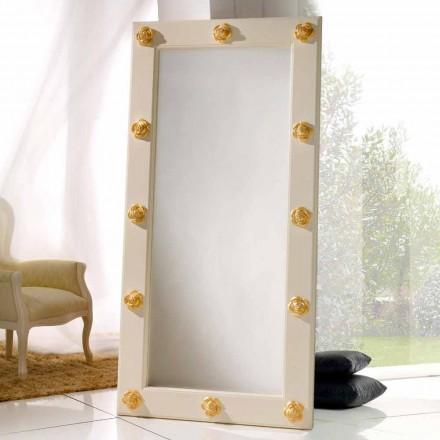 Vertikální zrcadlo podlaha / stěna s Abel ozdoby, ruční