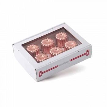 6dílné pocínované měděné ručně konzervované měděné formy na dorty - Gianvito