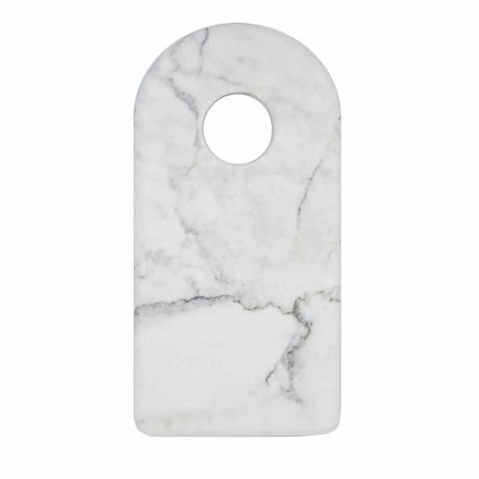 Řezací deska z moderního bílého mramoru Carrara Marble Made v Itálii - Amros