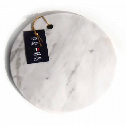 Kulatý design Bílé mramorové krájecí desky Carrara vyrobené v Itálii - Masha