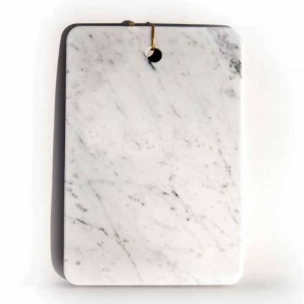 Vyrobeno v Itálii Designové prkénko z bílého mramoru Carrarra - Masha