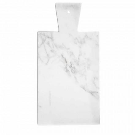 Moderní prkénko v bílém mramoru Carrara Vyrobeno v Itálii - Biblon