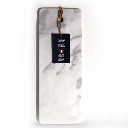 Obdélníkové prkénko z bílého mramoru Carrara vyrobené v Itálii - Masha