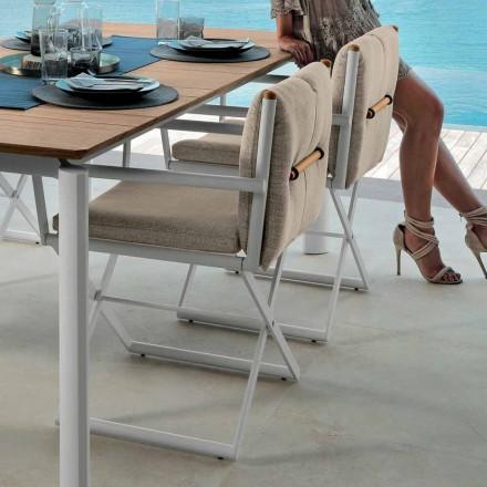 Ředitelská židle Talenti Domino pro venkovní design vyrobená v Itálii