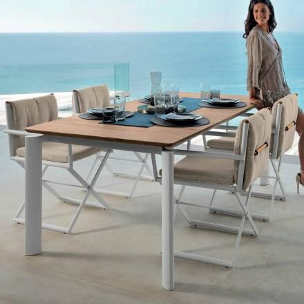Rozkládací zahradní stůl Talenti Domino 160 / 215cm vyrobený v Itálii
