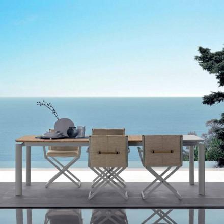 Výsuvný zahradní stůl Talenti Domino 200 / 260cm vyrobený v Itálii
