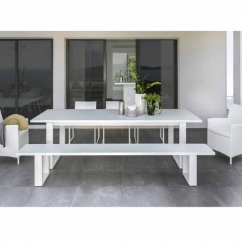 Talenti Essence bílá hliníková zahradní lavice vyrobená v Itálii