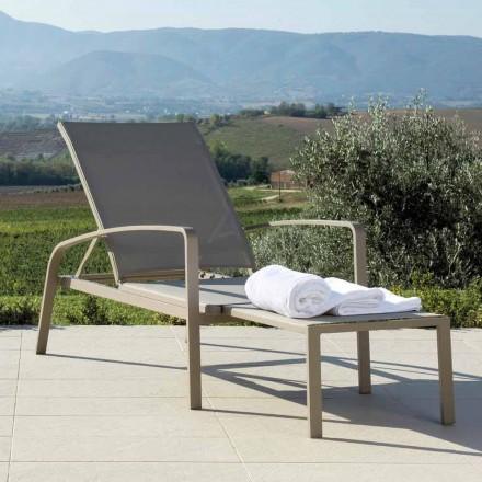 Talenti Lady recliner design zahradní postel vyrobené v Itálii