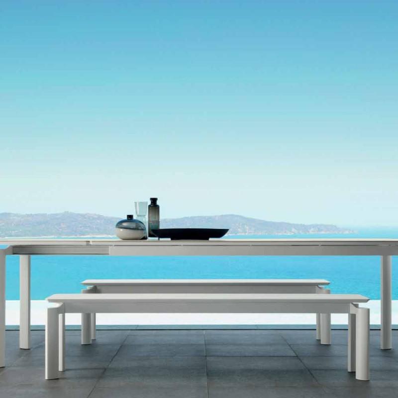 Moderní designová zahradní lavička Talenti Milo vyrobená v Itálii