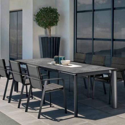 Výsuvný venkovní zahradní stůl Talenti Milo vyrobený v Itálii