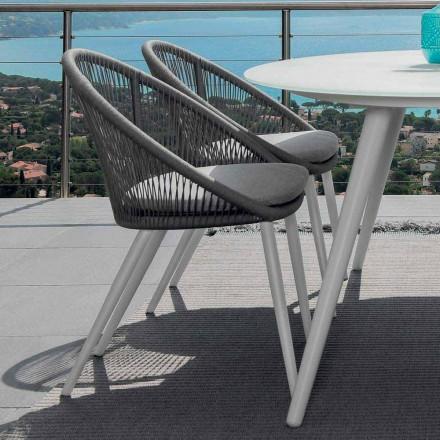 Lanová zahradní židle Talenti z lakovaného hliníku vyrobené v Itálii