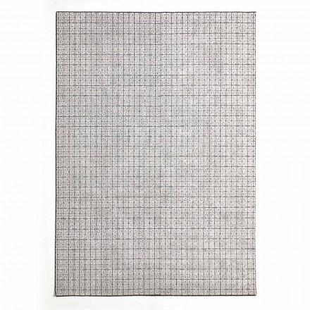 Moderní kuchyňský koberec z vlny, viskózy a bavlny se vzorem - Lulla