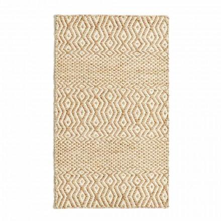 Moderní designový koberec do obývacího pokoje z ručně vyrobené vlny a bavlny - Minera