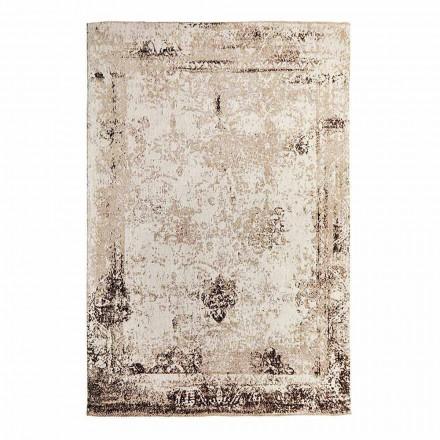Koberec do obývacího pokoje v retro designu vyrobený z polyesteru a bavlny - Hola