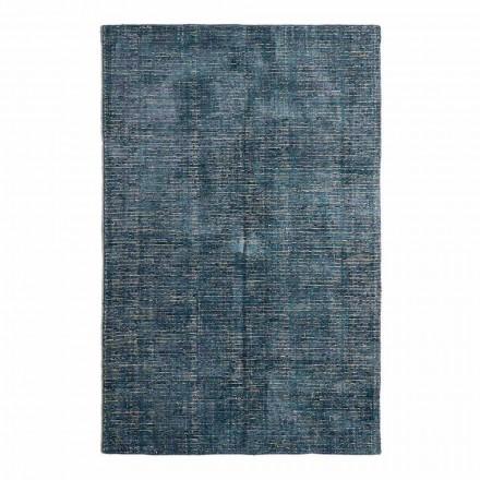 Obývací pokoj koberec z bavlny, viskózy a vlny vyrobený na ručním tkalcovském stavu - Melita